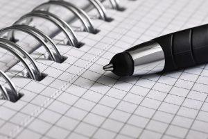 Gute Vorsätze schriftlich festhalten